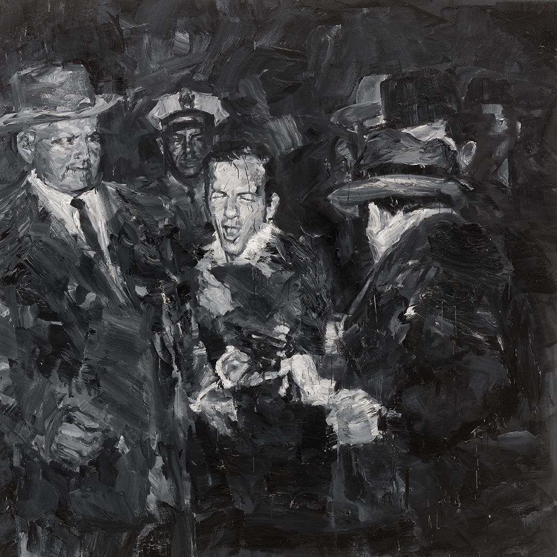 Yan Pei-Ming - Lee Harvey Oswald, 2012. © Yan Pei-Ming, Adagp, Paris, 2021 - Photo André Morin