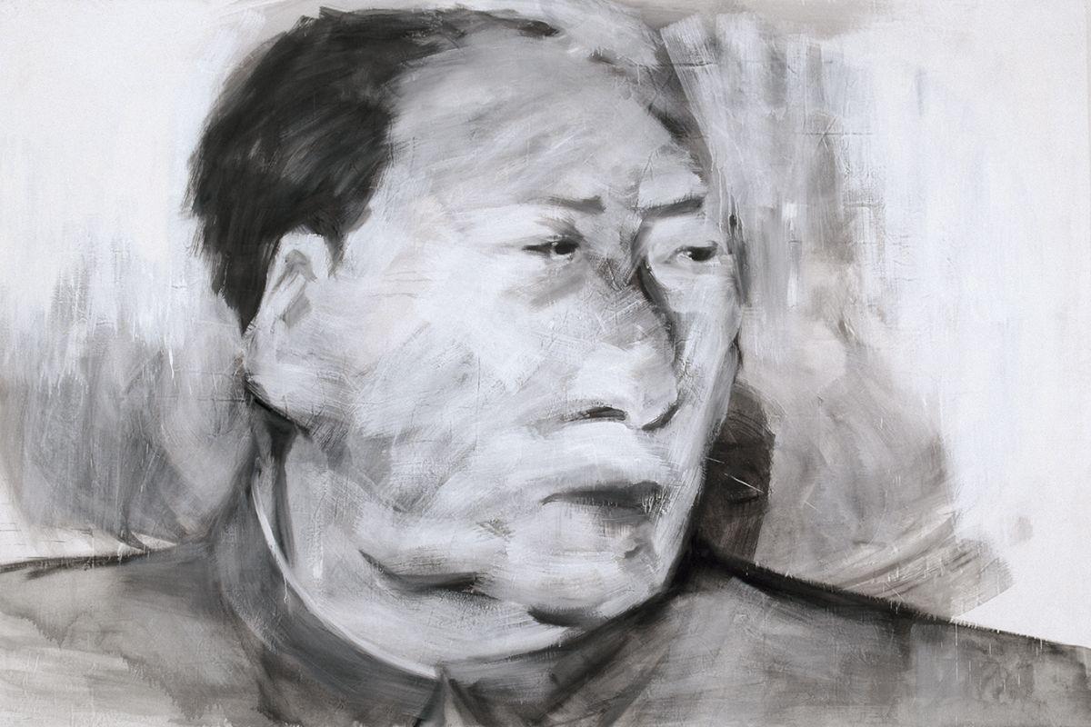 Yan Pei-Ming - Portrait de Mao, 1989. © Yan Pei-Ming, Adagp, Paris, 2021 - Photo André Morin