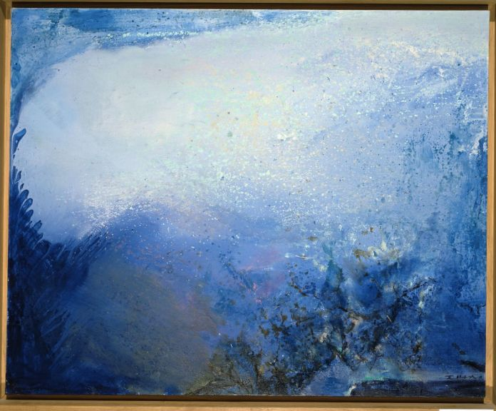 Zao Wou-Ki - 14.03.92, 1992, Huile sur toile, 65 x 81 cm, Collection particulière, © Adagp, Paris, 2021, photo Dennis Bouchard
