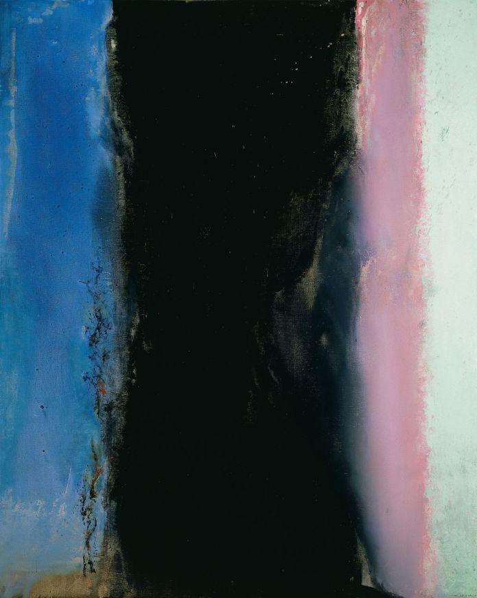 Zao Wou-Ki Hommage à Henri Matisse I - 02.02.86, 1986, Huile sur toile, 162 x 130 cm, Musée d'art moderne de Paris, Don de Françoise Marquet, © Adagp, Paris, 2021, photo Dennis Bouchard