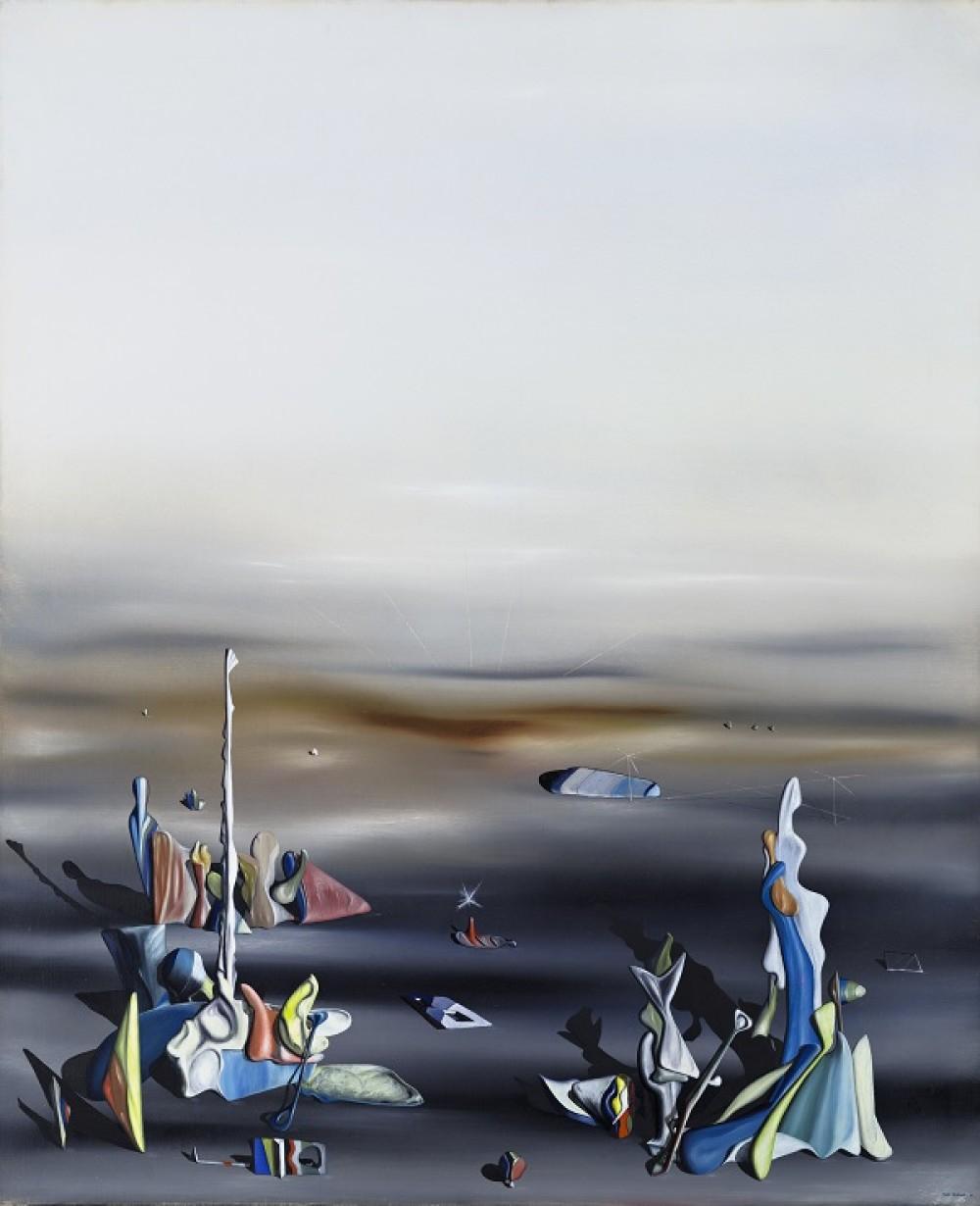 Yves Tanguy - Les cinq etrangers The Five Strangers, 1941