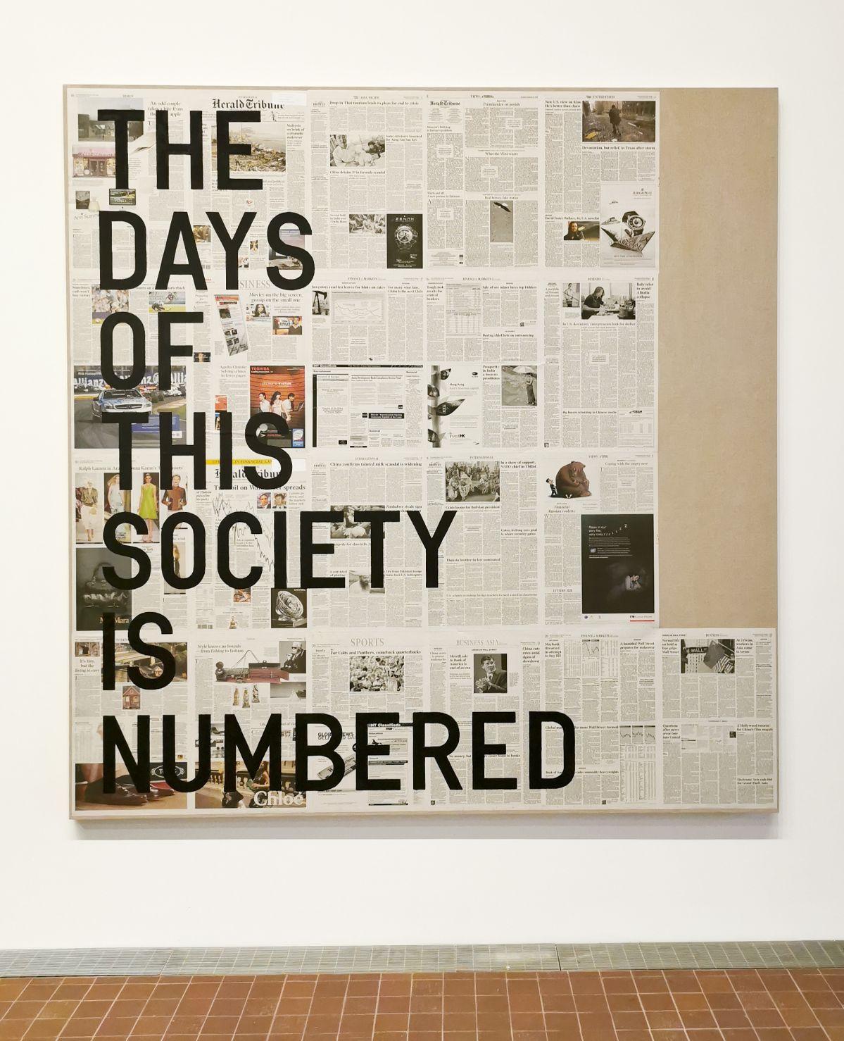 Rirkrit Tiravanija - The Days of this Society Is Numbered, 2010 - The Impermanent Display , Collection Maja Hoffmann - Luma Arles 2021