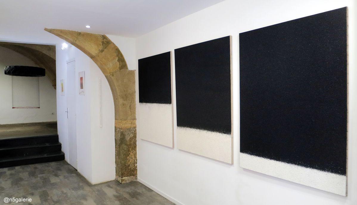 Helga Stuber Nicolas - Vue de l'exoistion Ralentir Travaux à la N5 Galerie – Montpellier. Photo N5 Galerie