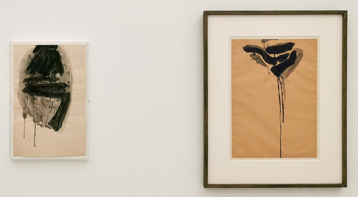 Sam Francis, Sans titre, 1949-1950 et Toward Black, 1950-1953 - «United States of Abstraction» au Musée Fabre