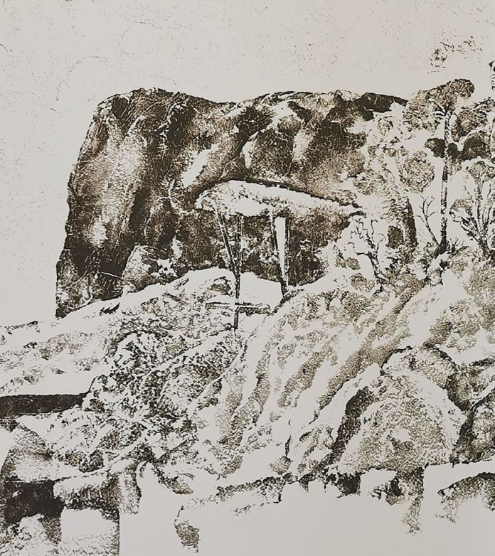 Olivier Nattes - Dessin mural (détail), 2021 - «Être monde» au Frac Provence-Alpes-Côte d'Azur