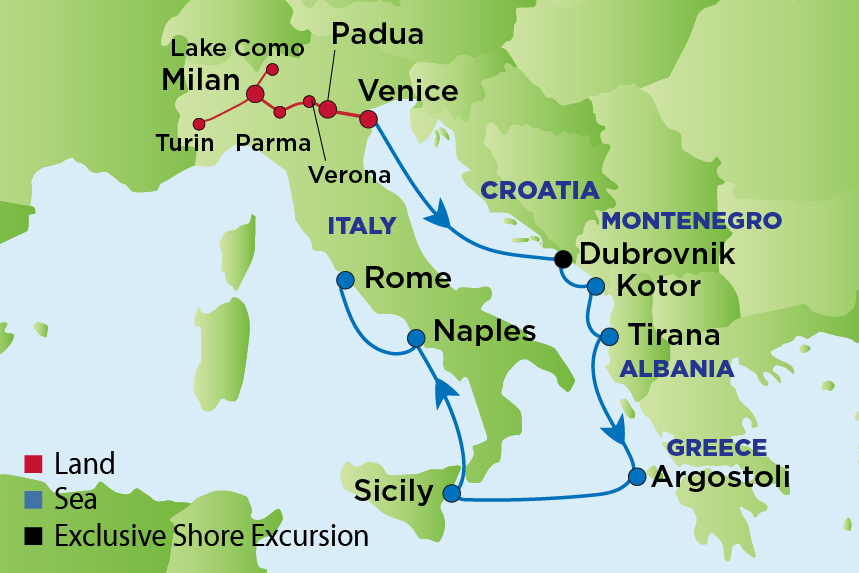 ej to northern italy and the adriatic