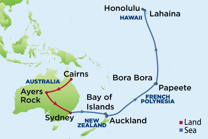Journey to Australia, Tahiti and Hawaii - Enrichment Journeys on regional map of melanesia, regional map of oceania, regional map of guam, regional map of micronesia islands, regional map of france, regional map of guyana, regional map of southeast asia, regional map of central america, regional map of caribbean, regional map of south asia, regional map of honolulu, regional map of south america,