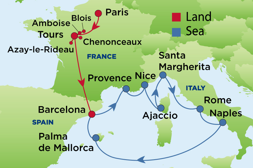 Map-PR-30470-CEL-AX-Loire-Valley-French-Riviera-17nt-2020 ... on vercors france map, nord-pas-de-calais france map, vendee france map, ireland france map, auvergne france map, amsterdam france map, catalonia france map, st remy provence france map, salzburg france map, madrid france map, chartres france map, normandy france map, palais des papes france map, rome france map, de loire france map, carriveau france map, scotland france map, tours france map, the dordogne france map, austria france map,