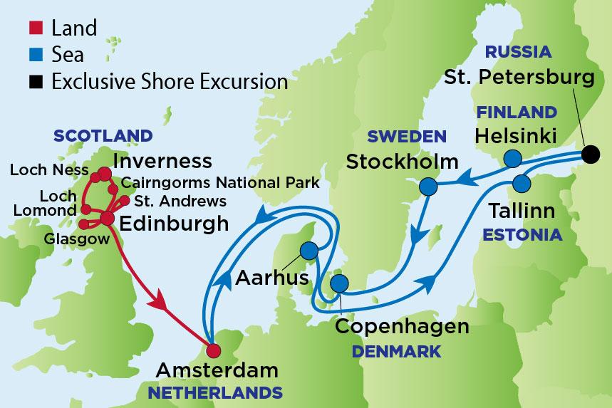 EJ to Scottish Highlands & Baltic Sea
