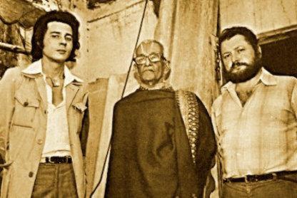 Da sinistra: David W. Davenport, Josier, Ettore Vincenti