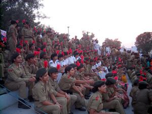 militari alla cerimonia