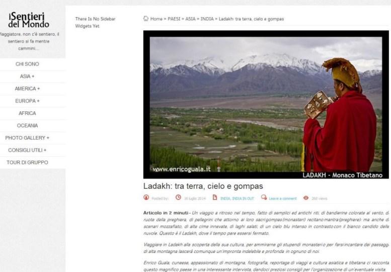 """Articolo-Intervista su """" I sentieri del Mondo"""""""