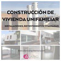 Seguimiento de la construcción de vivienda unifamiliar