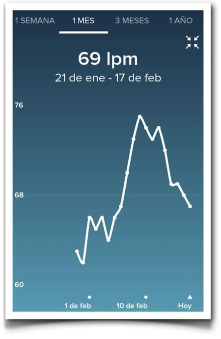 lpm reposo 21 de enero a 17 de febrero - Fitbit Charge HR