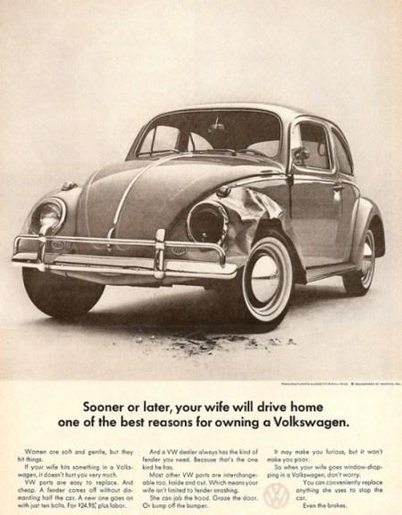 Volkswagen wife ad