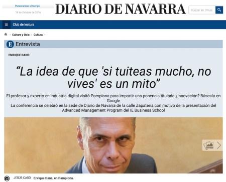 """La idea de que """"si tuiteas mucho, no vives"""" es un mito - Diario de Navarra"""