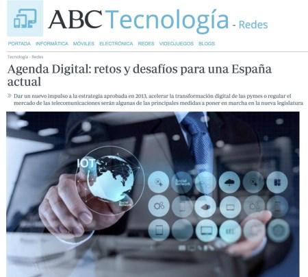 Agenda Digital: retos y retos para una España vigente - ABC