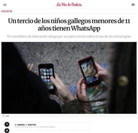 Un tercio de los chicos gallegos menores de 11 años tienen WhatsApp(mensajeria) - La Voz de Galicia
