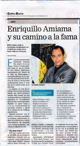 Newspaper article about the art of Enriquillo Amiama