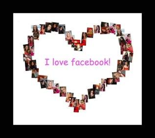 I love Facebook. Digital art by Enriquillo Amiama