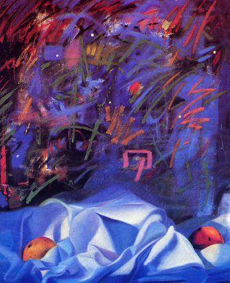 De la agitadas noches Antillanas. Painting by Enriquillo Amiama. Private Collection