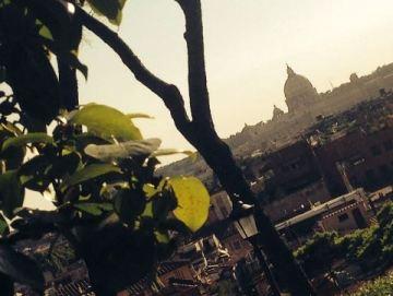 Vistas Roma en primavera desde el Pincio