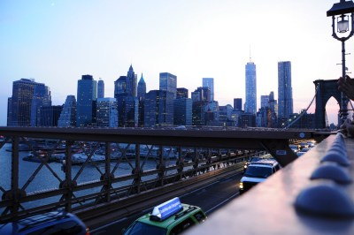 Financial district vue du pont de Brooklyn