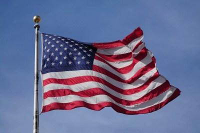 Un des nombreux drapeau américain !!
