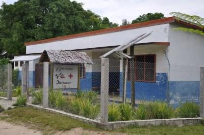 Dispensaire sur l'île de Vao