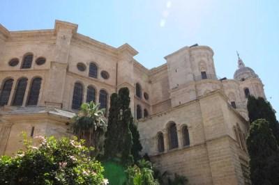 La cathédrale de Malaga vue proche