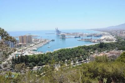 Vue sur le port de Malaga
