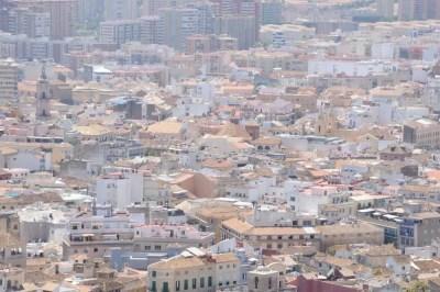 Vue sur Malaga du haut du Castillo de Gibralfaro