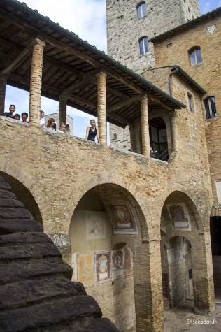 Point de vue sympa à San Gimignano