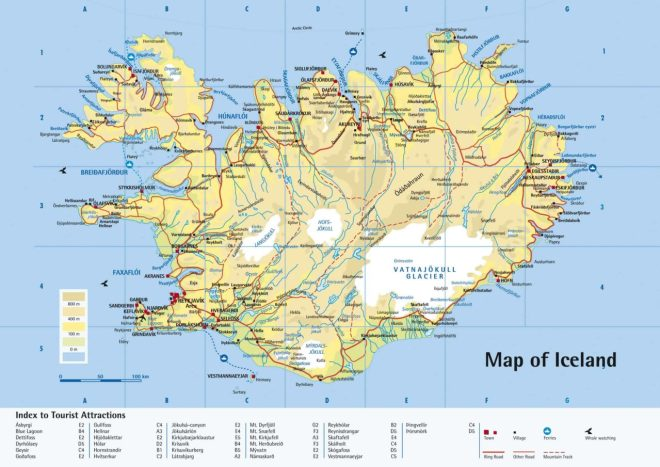 carte Islande route 1