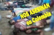 Qué podrá hacer el mundo contra los asesinatos diarios y en masa contra el pueblo colombiano!