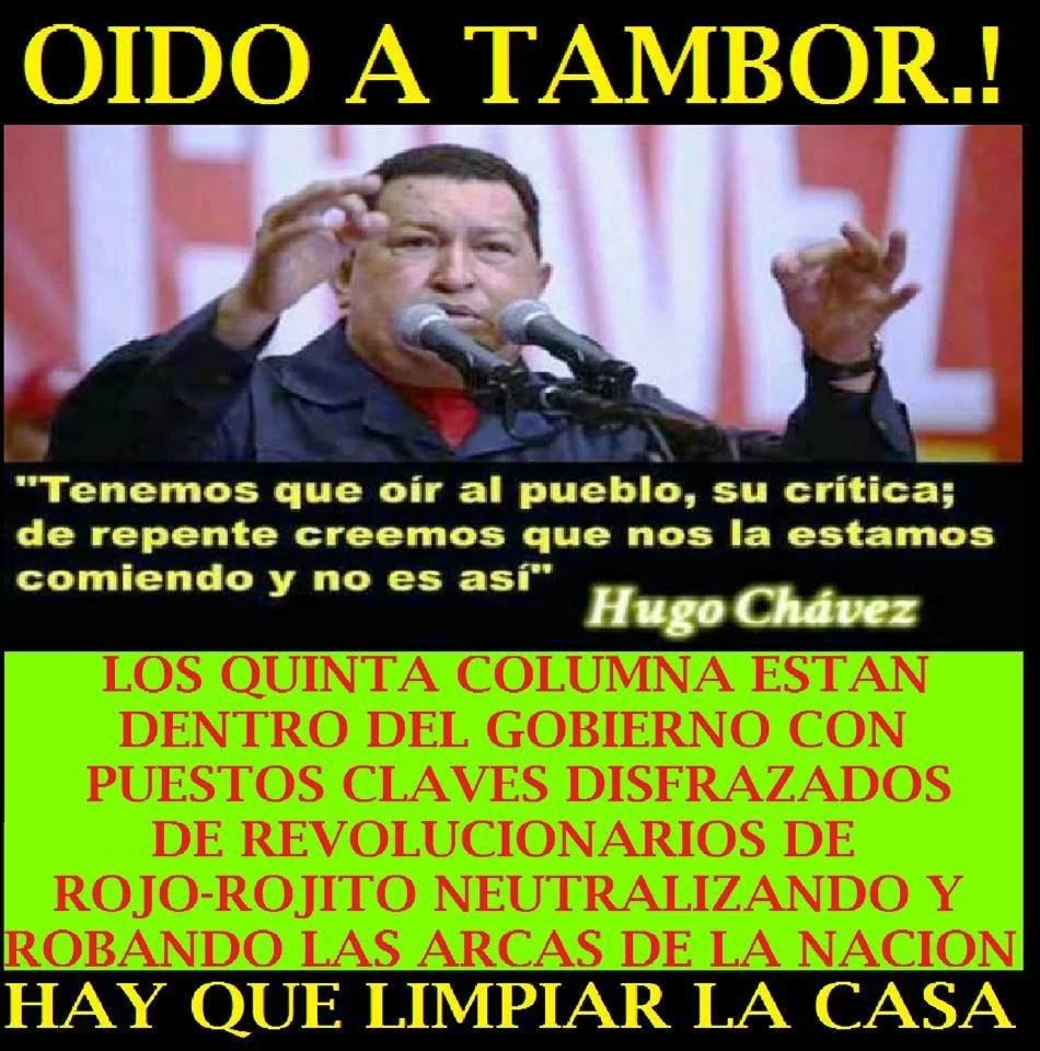 Es un clamor del pueblo, a limpiar de traidores la gerencia pública...