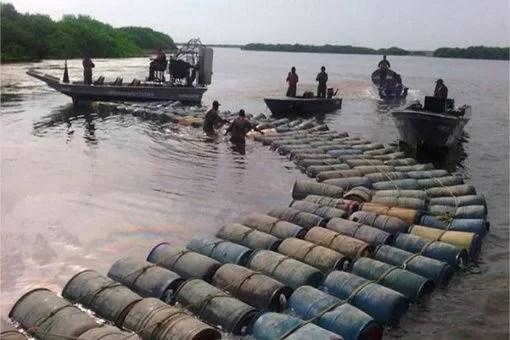 Interceptado en aguas venezolanas buque de bandera guyanesa, utilizado para contrabandear nuestro combustible...