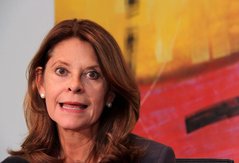 Vicepresidenta colombiana pide echarle plomo al que proteste...