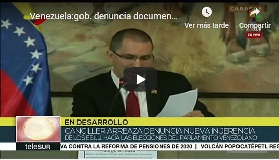 Venezuela:gob. denuncia documento de EEUU para intervenir legislativas (+Video)