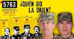 La impunidad campea a sus anchas en Colombia: Hace muchos años el pueblo identificó a los responsables de los falsos positivos y nada sucede…!!!