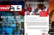 Boletín Nº 194 del PSUV destaca medidas preventivas aplicadas a tiempo en Venezuela contra el Covid-19 (+Descarga)