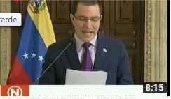 Canciller Arreaza da lectura a misiva escrita por el Pdte. Maduro dirigida al pueblo estadounidense (+Video)