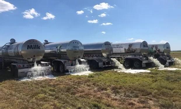En EEUU granjeros botan 3,7 millones de galones de leche cada día