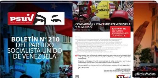 Descarga el Boletín N° 210 del Partido Socialista Unido de Venezuela (+Descarga)