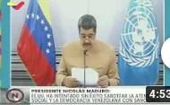 Presidente Maduro en Cumbre ONU sobre Objetivos del Desarrollo Sostenible 2030, 18 septiembre 2020 (+Video)