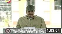 Presidente Maduro realiza videoconferencia con la Milicia Bolivariana, 18 septiembre 2020