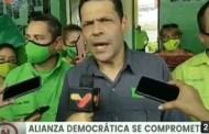 Juan Carlos Alvarado: Alianza Democrática se compromete a trabajar por los ciudadanos