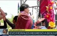 """Vea el retorno y las palabras de Evo Morales al llegar a Bolivia: """"Este retorno es gracias a ustedes"""" (+Video)"""
