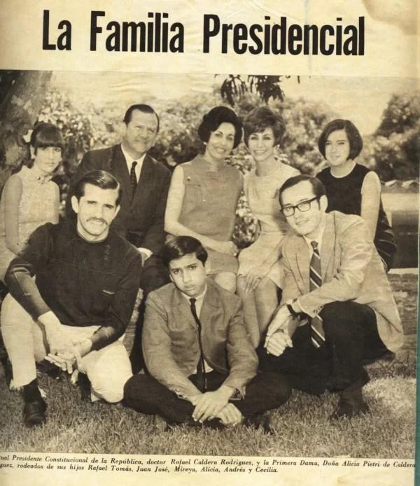 HEMEROTECA: Caldera y familia, lo tuvieron todo y resultaron mediocres,... y nosotros, que creíamos ser felices, PENDEJOS...