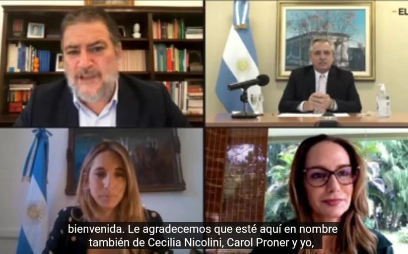 Vea la ponencia del presidente de Argentina, Alberto Fernández, titulada;